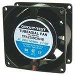 CIRCUIT TEST CFA2308038HB 230VAC BALL BEARING FAN 80MM X 80MM X 38MM 26/32CFM 31/34DB 3700/3100RPM
