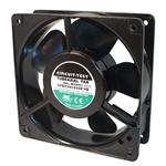 "CIRCUIT TEST CFB23012038HB 230VAC BALL BEARING FAN 120MM    X 120MM X 38MM 105CFM 46DB 17W 0.10A 3100RPM 1/8"" TERMINALS"
