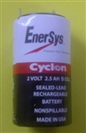 ENERSYS 2V 2.5AHR GELL BATTERY 0810-0004 D CELL