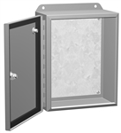 "HAMMOND EJ8104 N4,12 ECLIPSE JUNIOR ENCLOSURE WITH PANEL,   8"" X 10"" X 4"" - STEEL/GRAY *SPECIAL ORDER*"