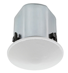 TOA F-122C 30W 12CM WIDE DISPERSION CEILING SPEAKER,        8/16 OHM OR 25/70V SELECTABLE TAPS IN-FRONT *SPECIAL ORDER*