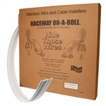 "GC RACEWAY ON A ROLL 1/2"" WHITE (50FT) FWF05511             MFR# FWF-05511"