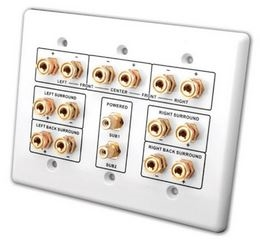 Vanco 7 2 Home Theater Connection Wall Plate Htwp72