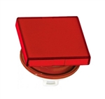 IDEC 22MM DIA. SQUARE FLUSH LENS HW2AL1R                    **CLEARANCE**