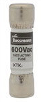 "BUSS 13/32""X1-1/2"" FAST-BLOW MELAMINE TUBE 600V FUSE KTK 2  KTK-2 AC RATED ONLY, NOT TESTED/RATED FOR DC APPLICATIONS"