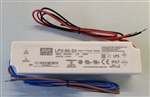 MEAN WELL LPV-60-24 LED DRIVER / POWER SUPPLY AC-DC 24V 2.5A 100-264V IN, ENCAPSULATED, CONSTANT VOLTAGE