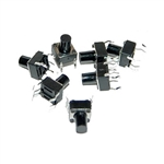 OSEPP PUSHBUTTON SWITCH MINI TACTILE 6MM (25PK) LS00003     ARDUINO 12VDC@50MA MAXIMUM *NOT RATED FOR AC CIRCUITS*
