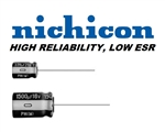 NICHICON N220UF63VR 220UF 63V RADIAL ELECTROLYTIC CAPACITOR 15MM X 16MM, LOW ESR 5000 HOURS AT 105C MFR# UPM1J221MHD6