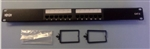 TRIPPLITE 12 PORT 1U RACKMNT CAT6 110 PATCH PANEL N252-012  568B RJ45 ETHERNET