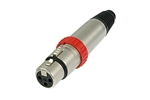 NEUTRIK 3-PIN XLR FEMALE W/SWITCH NC3FXS