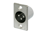 NEUTRIK XLR RECEPTACLE 3-PIN MALE NC3MP