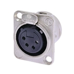 NEUTRIK XLR RECEPTACLE 4-PIN FEMALE CHASSIS MOUNT NC4FDL-1