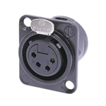 NEUTRIK RECEPTACLE DL1 SERIES 4 PIN FEMALE BLACK NC4FDLB1