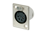NEUTRIK XLR RECEPTACLE 4-PIN FEMALE CHASSIS MOUNT NC4FP-1
