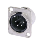 NEUTRIK XLR RECEPTACLE 4PIN MALE CHASSIS MOUNT NC4MDL-1