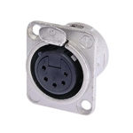 NEUTRIK 5-PIN XLR RECEPTACLE FEMALE CHASSIS MOUNT NC5FDL1