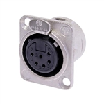 NEUTRIK XLR RECEPTACLE 6PIN FEMALE CHASSIS MOUNT NC6FDL1