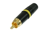 NEUTRIK PREMIUM GOLD RCA PLUG YELLOW STRIPE NYS373-4