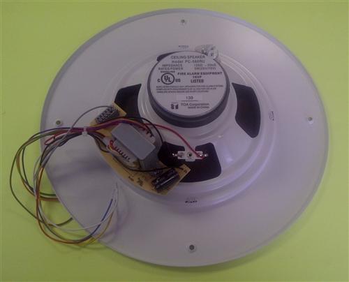 Toa Ceiling Speaker Round Xfmr Grill Wht Pc580ru