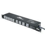 MID ATLANTIC RACK MOUNT 18-OUTLET 15A AC STRIP PD-1815R-RN  W/2-STAGE PROTECTION & ADJUSTABLE RACK EARS *SPECIAL ORDER*