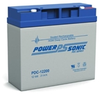 POWERSONIC 12V/20AH AGM DEEP CYCLE BATTERY T12/M5 PDC-12200 FOR USE WITH: LAWN MOWER, GOLF CART, GOLF CADDY, BOOST PACK