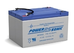POWERSONIC 12V 12AH SLA W/.187 FASTON BATTERY PS12100