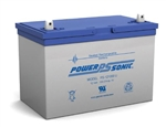 POWERSONIC 12V/100AHR BATTERY W/HANDLE PS121000H            MFR# PS-121000U