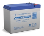POWERSONIC 12V 10.5AH SEALED LEAD ACID BATTERY PS12100H     F2 QC TERMINAL MFR# PS-12100H
