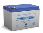 POWERSONIC 12V/12A SLA BATTERY W/.250 FASTON (F2) PS12120