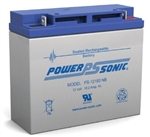 POWERSONIC 12V/18AH SLA BATTERY W/BOLTS PS12180