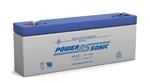 POWERSONIC 12V 2.5 A.H. W/.187 Q.C SLA BATTERY PS1220