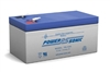 POWERSONIC 12V 3.4AH W/.187 Q.C SLA BATTERY PS1230
