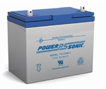 POWERSONIC 12V 55AH BATTERY SLA W/HANDLE & U POST PS12550U