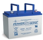 POWERSONIC 12V 75AH SLA BATTERY THREADED TERM. PS12750B