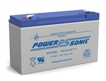 POWERSONIC 6V 12AH W/.187QC SLA BATTERY PS6100