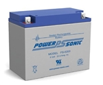 POWERSONIC 6V/20AHR GELL BATTERY PS6200                     MFR# PS-6200