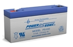 POWERSONIC SEALED BATTERY 6V 3.5AH PS630                    MFR# PS-630