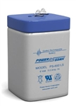 POWERSONIC 6V/5AHR GELL SPRING TOP LANTERN BATTERY PS650L   MFR# PS-650L