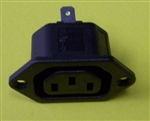 BULGIN FEMALE CHASSIS MOUNT IEC 10A/250VAC RECEPTACLE       PX0675/63