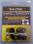 "RACK-A-TIERS 1/2"" MAGNETIC CLAMP BLACK (10PK) RM051BK"
