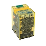 IDEC 24VDC 4PDT RELAY W/LED & CHECK RU4S-DC-24