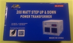 PHILMORE 120V-240V STEP-UP/DOWN TRANSFORMER 200W ST200      FUSE:GMA2 DO NOT USE IN WET AREAS,BARE EARTH OR CONCRETE