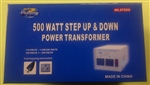 PHILMORE 120V/240V STEP-UP/DOWN TRANSFORMER 500W ST500      FUSE:S501-5-R DO NOT USE IN WET AREAS,BARE EARTH OR CONCRETE