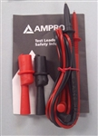 AMPROBE HEAVY DUTY TEST LEADS TL1500                        WITH THREADED ALIGATOR CLIPS