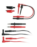 EXTECH 8 PIECE LEAD SET COMES WITH POUCH/PROBE/SEIZER/ALLIGATOR TL809
