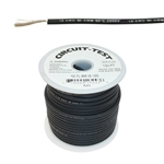 CIRCUIT TEST 18AWG TEST LEAD WIRE 5KV BLACK 100FT TLBLK-100 EPDM RUBBER INSULATION