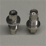 B&L RF BNC TWIST-ON FEMALE CHASSIS BULKHEAD CONNECTOR WITH  THREAD AND NUT FOR RG59/62 TOBNC40-59/62 *CLEARANCE*