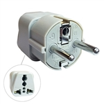 CIRCUIT TEST AC PLUG TRAVEL ADAPTER 3COND 3PIN EUROPE WA-9