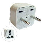 CIRCUIT TEST AC PLUG TRAVEL ADAPTER 3COND 2PIN EUROPE WA-9A