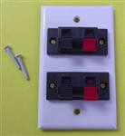 PROVO WALL PLATE FOR 2 SPEAKERS - SPRING CLIP WCP52WH